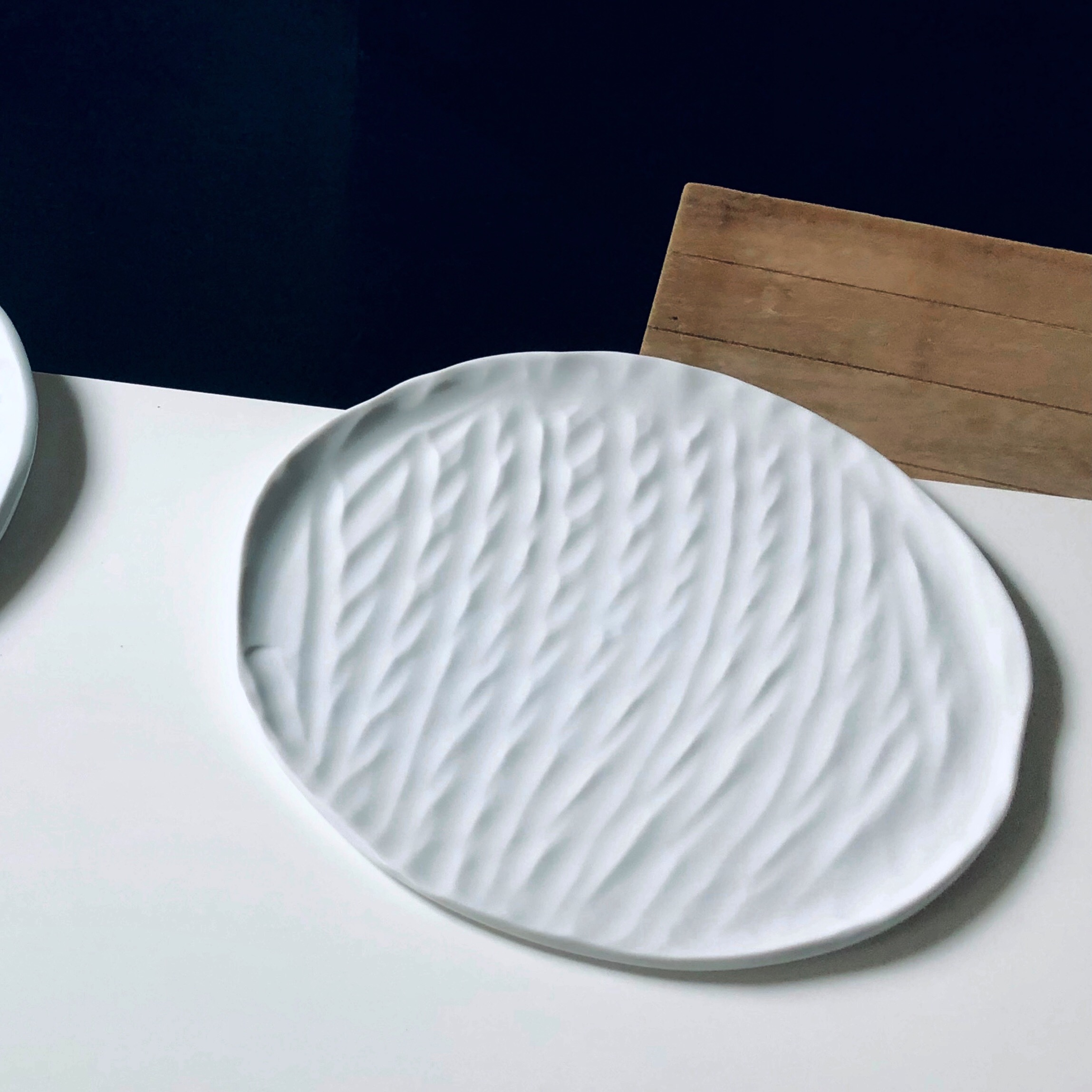 SOMA, my first completely handmade porcelain plate